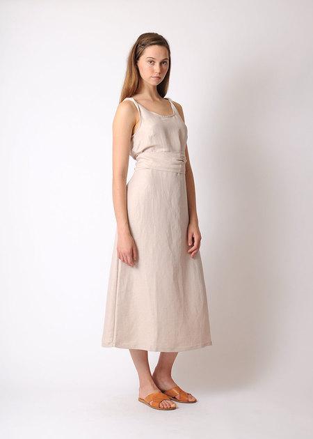 Pale Fire Goddess Dress - NUDE