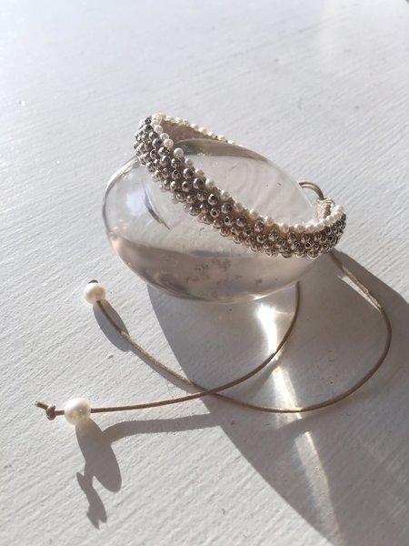 Antipast Beaded Bracelet - Silver/Pearl