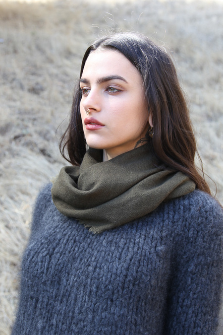 From The Road Square Scarf - Army
