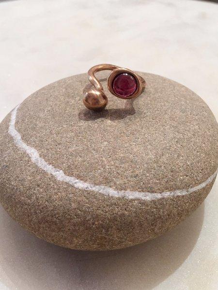 Monica Castiglioni Pistilli Ring - Bronze/Garnet