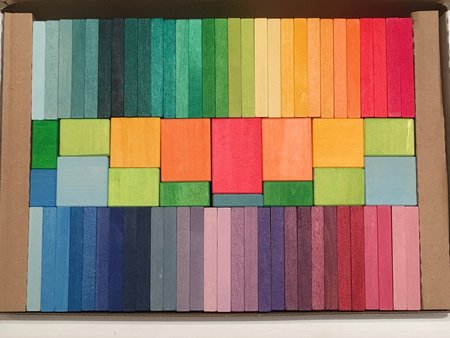 Kids Mint Design Play Grimm's Brilliant Colorful Blocks Set - Multi