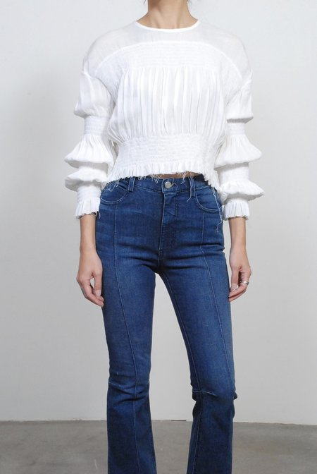 Rachel Comey Penta Rayon Gauze Top - White