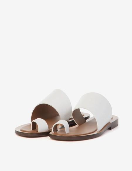 Amblême Malaparte Calfskin Sandals - White