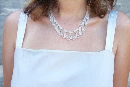 Arielle de Pinto Blackwork Collar - SIlver