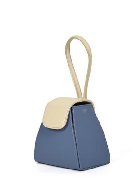 ATELIER PARK Color Block Triangle Bag - Blue