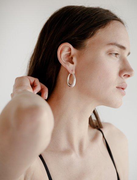 All Blues Womens Fat Snake Earrings - Silver