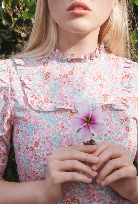Fiola la Flore Flowerberry fields forever dress in pink flower