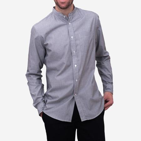 Bon Vivant Gino Mao Long-Sleeve Shirt - End on End Grey