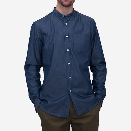 Bon Vivant Gino Mao Long-Sleeve Shirt - Indigo