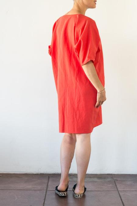 Rachel Craven Short V-Neck Caftan - Desert Red