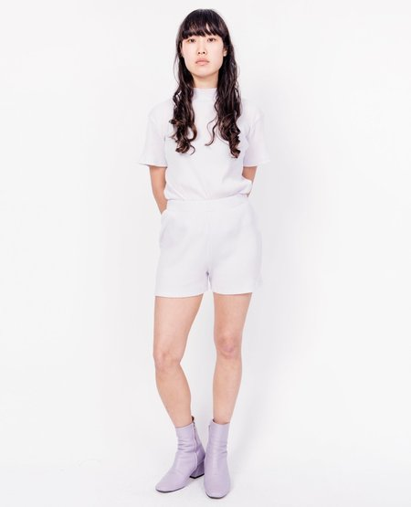BY SIGNE Rib Shorts - Purple