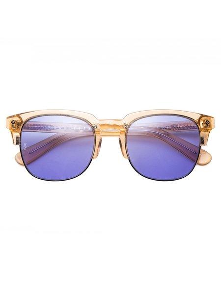 Wonderland Perris Sunglasses - Clear Beach Glass Blue CZ