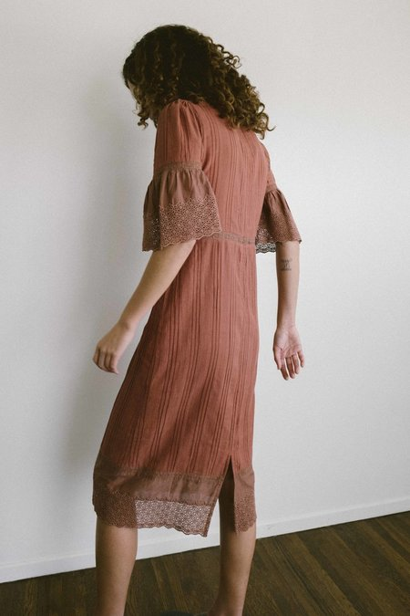 Maria Stanley Clay House Dress - Clay