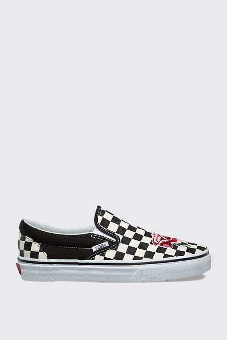 VANS Satin Patchwork Slip-On - checkerboard