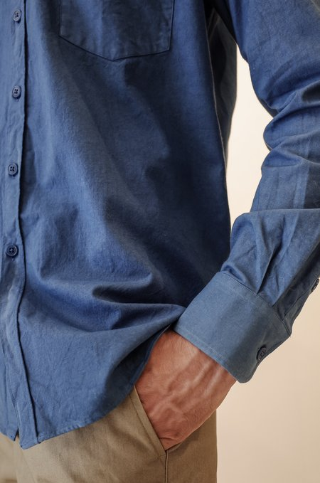 De Bonne Facture Oversized Shirt - Pastel Blue