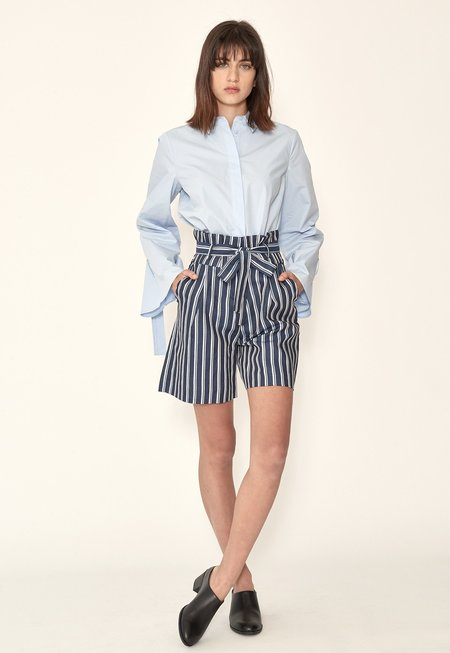Just Female Anny Shorts - Blue Stripes