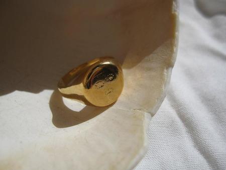 Pamela Card Jewerly Leçons de L'histoire Ring - 24K Yellow Gold