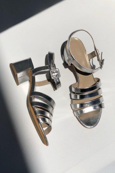 Maryam Nassir Zadeh Palma Low Sandal - Silver