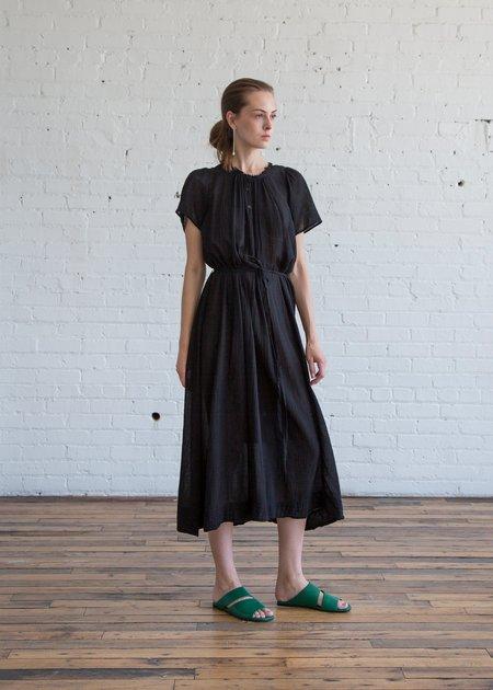 Raquel Allegra Flutter Maxi Dress - Black