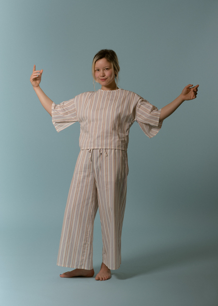 Kinda Sleepwear Unwind Set in Stripe