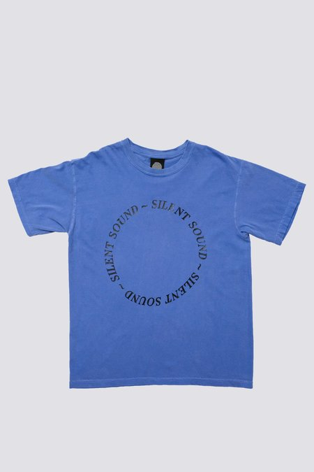 Silent Sound Cotton Circle Logo T-Shirt - Washed Blue