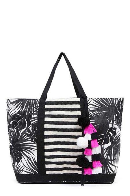 JADEtribe Aloha St. Jean Tote - Pink/Black