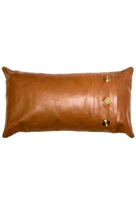 Rose & Fitzgerald Leather Safari Lumbar Pillow - TAN