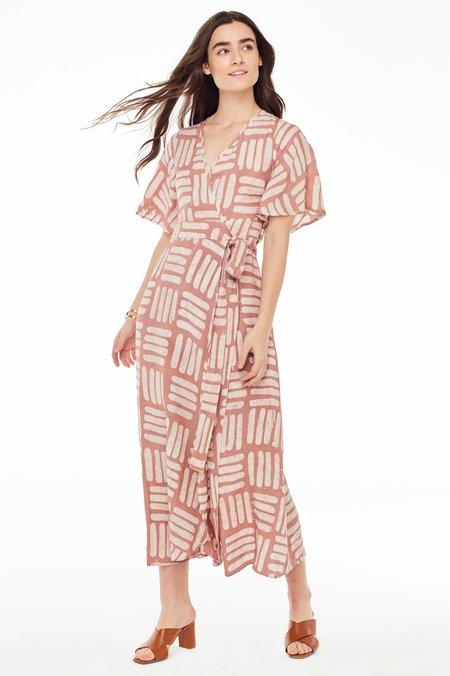 Osei-Duro Basket Tulip Dress - Pink