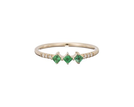 Jennie Kwon Harmony Ring - Emerald