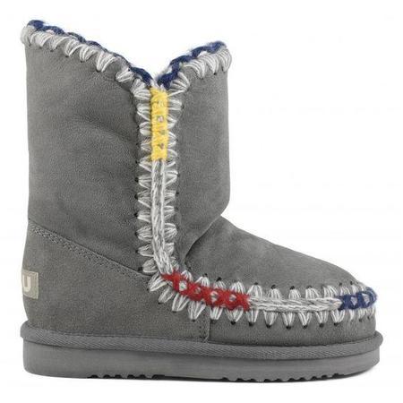Mou Eskimo 24cm Pop Overstitch Boot - New Grey
