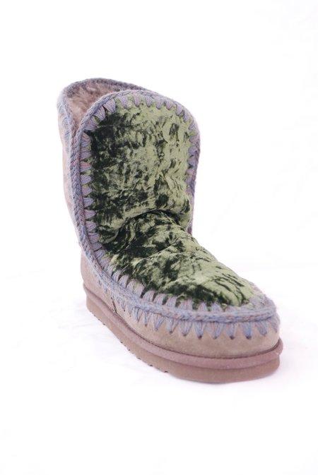 Mou Eskimo 24cm Velvet Boot - Moss
