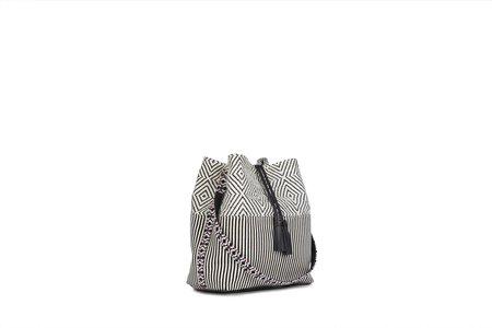 Mercado Global Juliana Bucket Bag - Black Weave