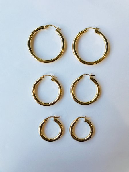 Tidy Street General Store 9ct Gold Hoops