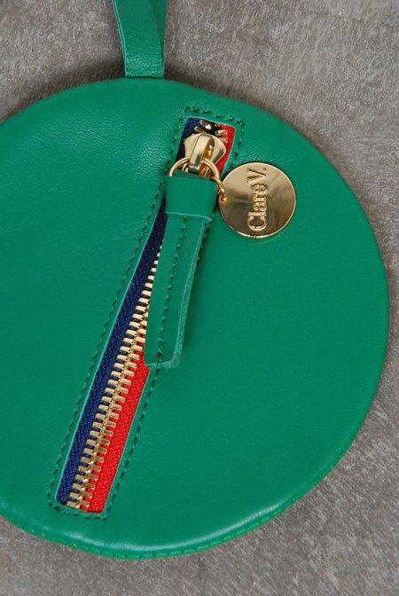 Clare V Golfa Circle Coin Fob - Emerald