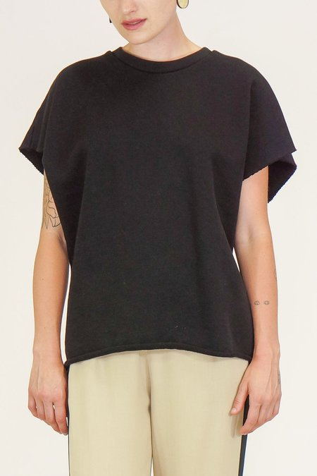 OAK NYC Cut Off Crew Top - Black