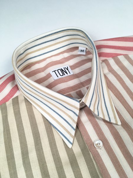 Unisex COLORANT X TONY SHIRTMAKER WOVEN COTTON SHIRT - MULT-STRIPE No. 4