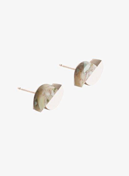 Lien Hereijers Concave Earrings - Marble