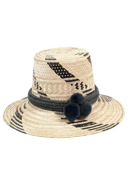 Guanábana Handmade Guajiro Thick Stripe Hat - NATURAL/BLACK