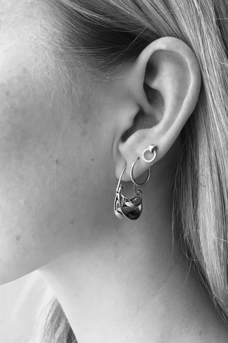 Anissa Kermiche Mini Paniers Dorés Earrings - Silver