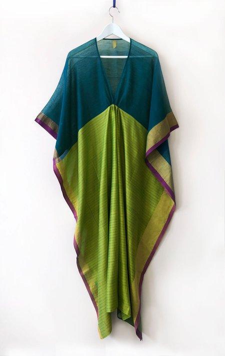 Two Stripe Caftan - Teal/Green
