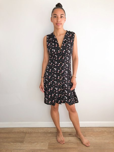 Field Day Loretta Dress - Black Floral