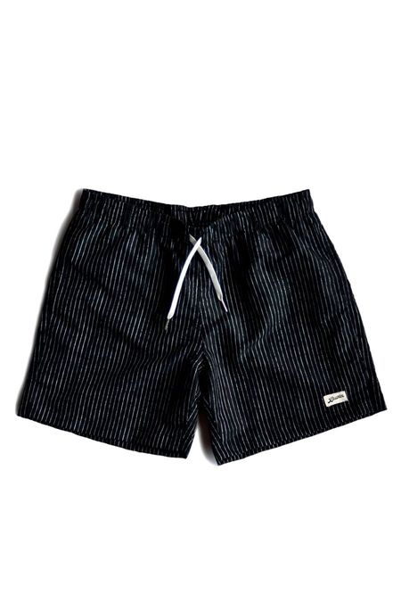 Bather Boardshorts Pinstripe Shorts - Black