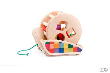 Kids Bajo Wooden Snail Sort-Roller Pull/Push Toy