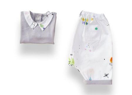 Kids Lil'Gaea Vapor Blue Pajama Set - Dreamland print