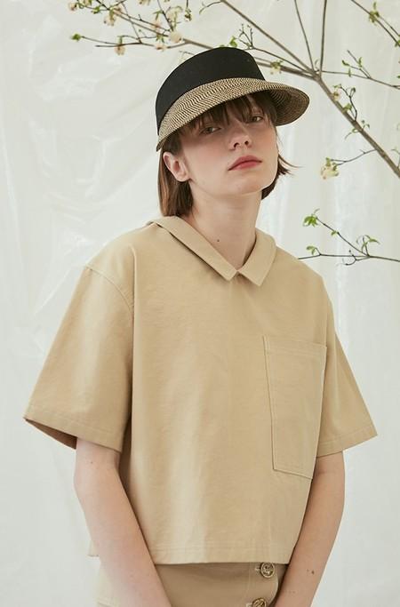 ANOTHER A Stitch Pocket Shirts - BEIGE
