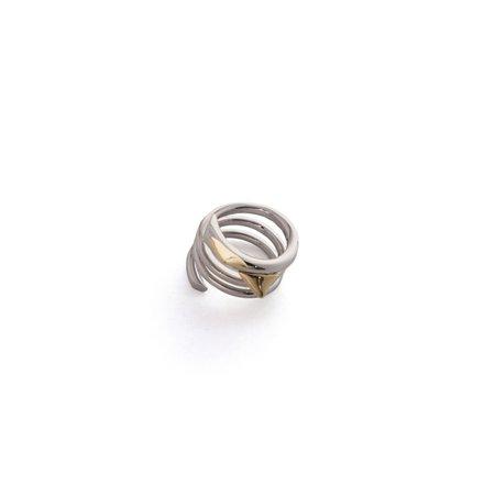 Schield Roses Thorns Ring - gold/palladium