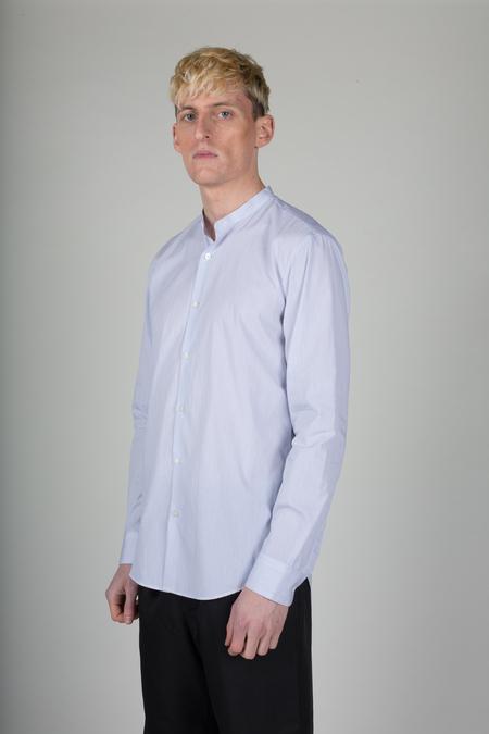 Dries Van Noten Claver Shirt - White/Navy Stripe