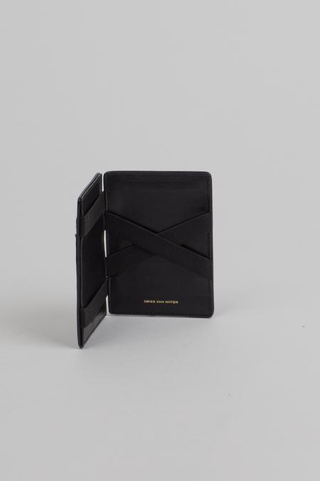 Dries Van Noten Leather Cardholder - Black