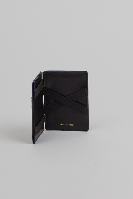 Dries Van Noten Leather Cardholder - Snake Print