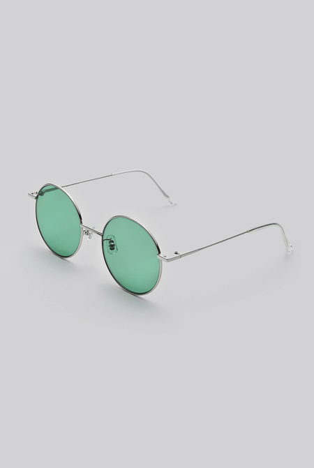 Gentle Monster Midnight Sun 02 (GR) Sunglasses - Silver/Green
